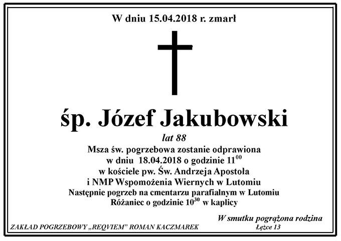 Żyli wśród nas – Józef jakubowski