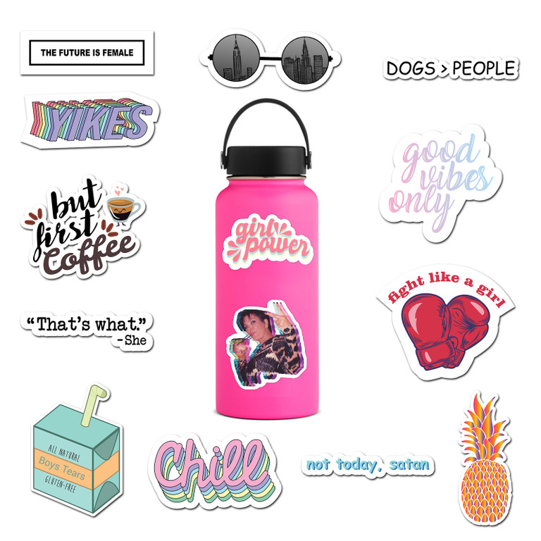 1be0c0aca8ab Details about 14 Pack Vinyl Stickers for Laptop, Water Bottle, Hydro Flask  - By RipDesigns