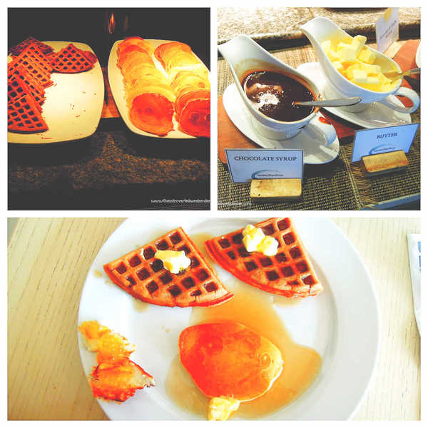 Costa Pacifica The Beach House Breakfast Waffle and pancake station