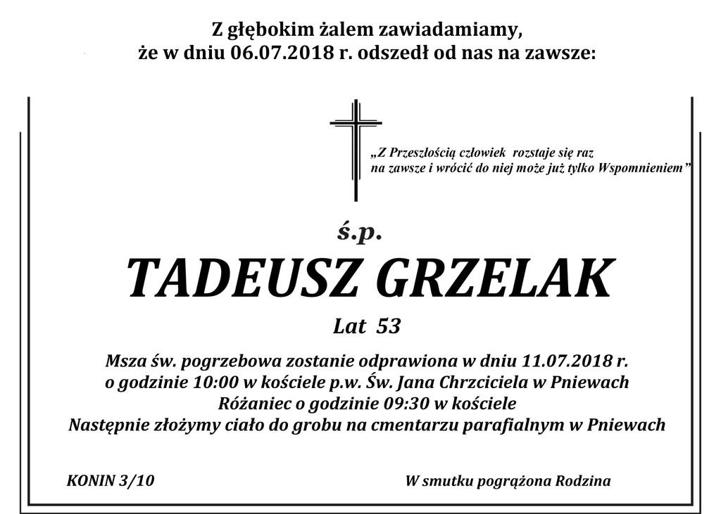 Żyli wśród nas – Tadeusz Grzelak