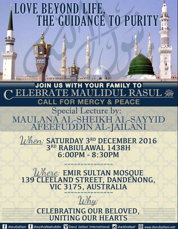 Celebrating Maulidul Rasul Bosnian Mosque 2018 – Images
