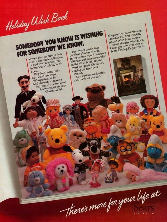 e103b96c9 1983 Sears Holiday Wish Book Toys   Doll Vintage Color Photo Print ...