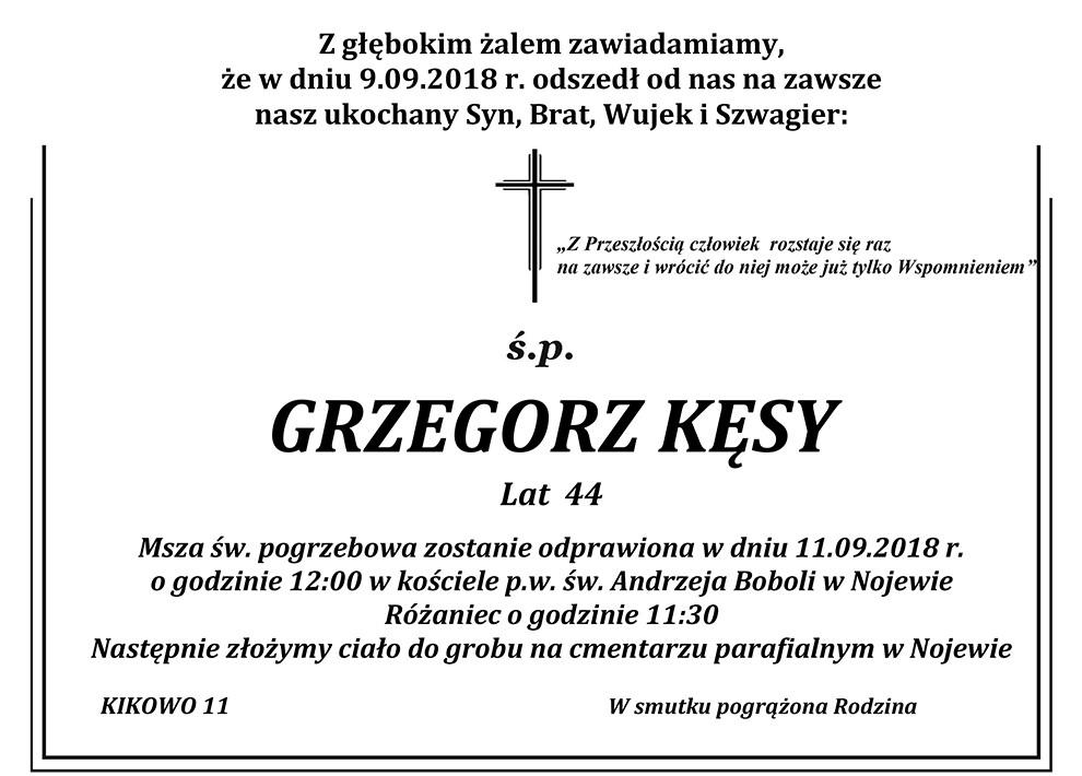 Żyli wśród nas – Grzegorz Kęsy