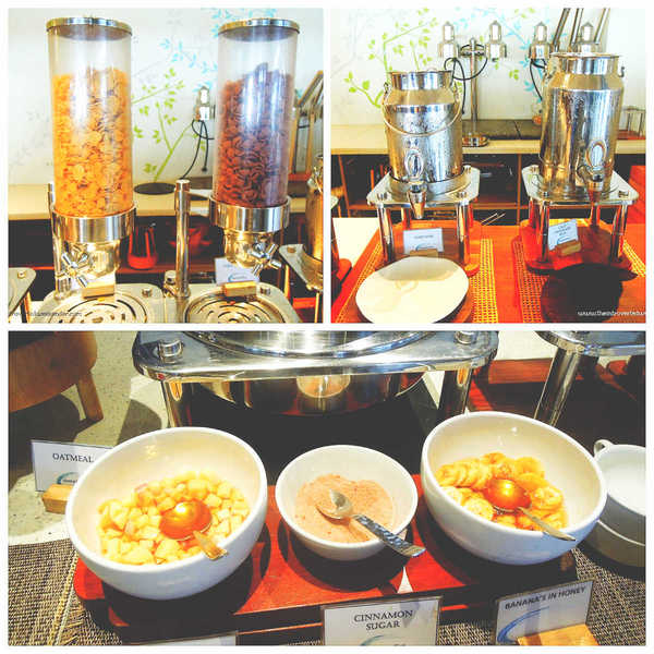 Costa Pacifica The Beach House Breakfast Oats and cereal station