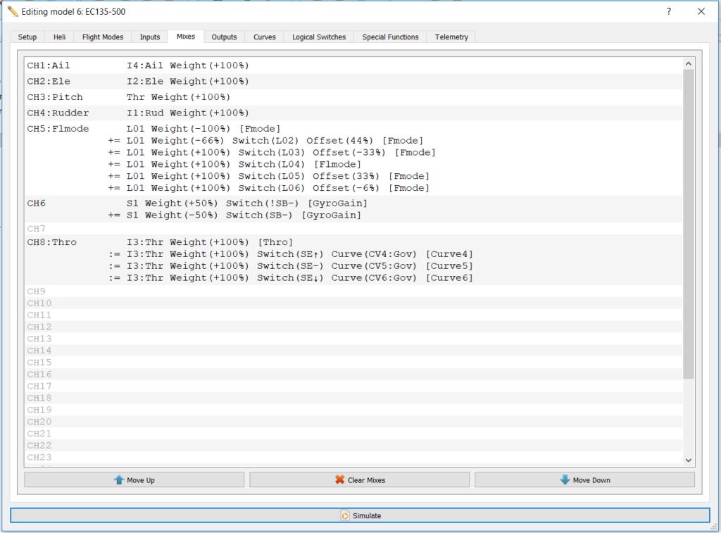 open tx companion 2 2 setting up ccpm heli