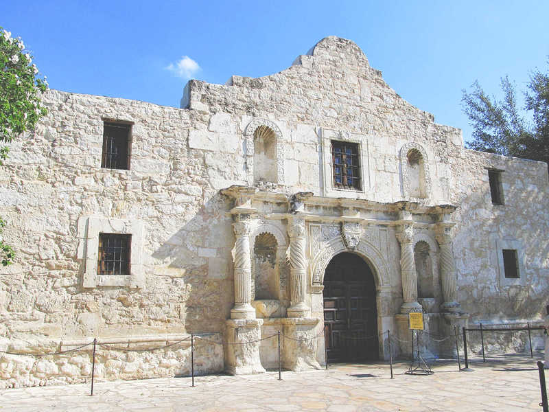 Facade of the Alamo Missions