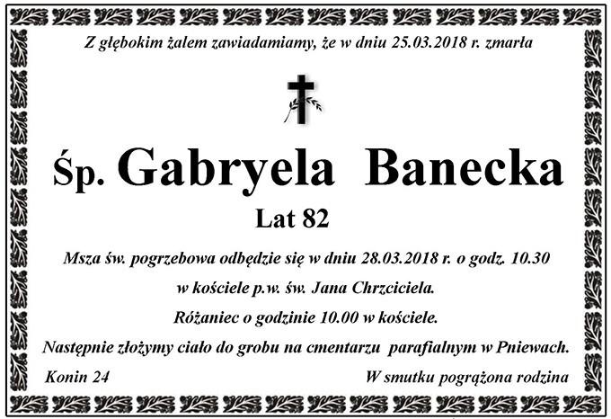 Żyli wśród nas – Gabryela Banecka