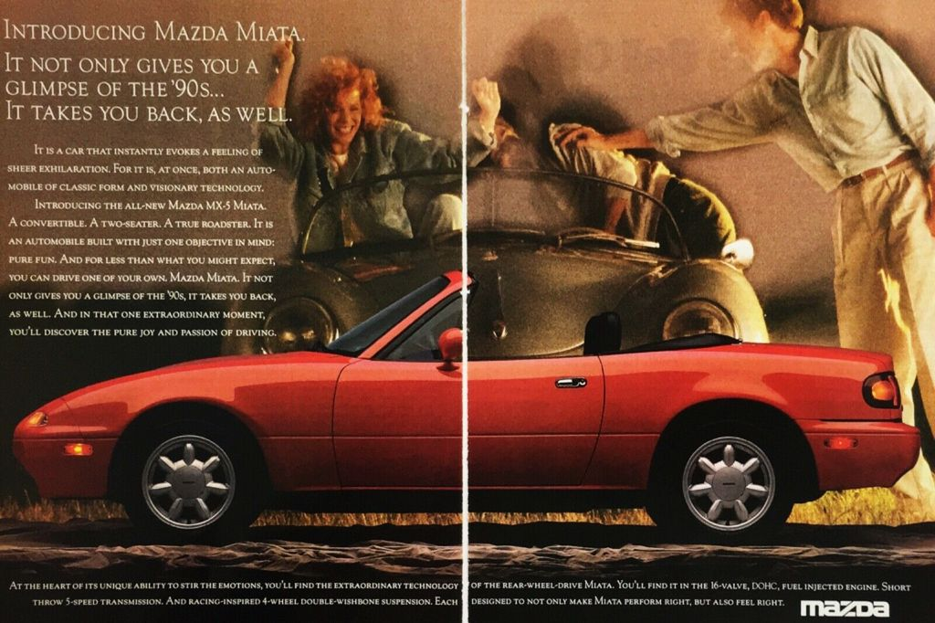 Details About 1990 Introducing Mazda Mx 5 Mx5 Miata Red Convertible Car Vintage Photo Print Ad