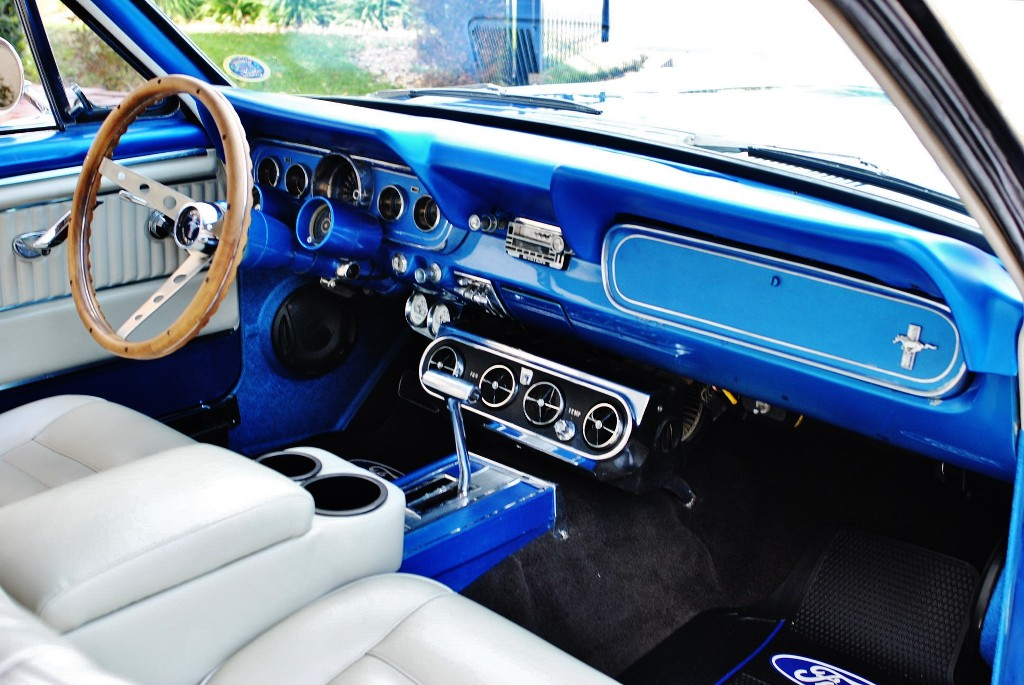 1966 Ford Mustang Fully Restored 289 V8 Auto w/ Air Conditioning: Beautiful Custom Paint Work White Pony Interior w/ Center Console
