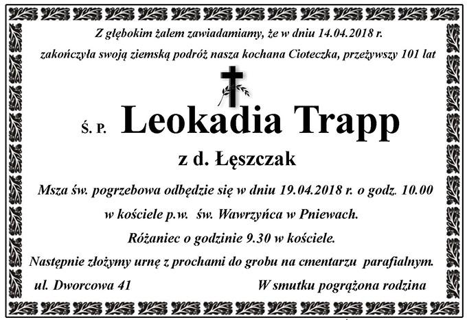 Żyli wśród nas – Leokadia Trapp