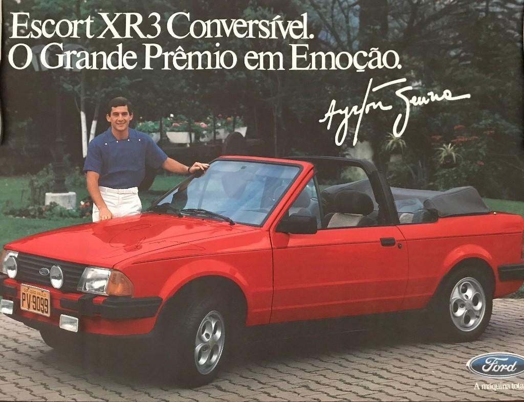 Ford Escort XR3 Conversível. O Grande Prêmio em Emoção. (Com Ayrton Senna da Silva)