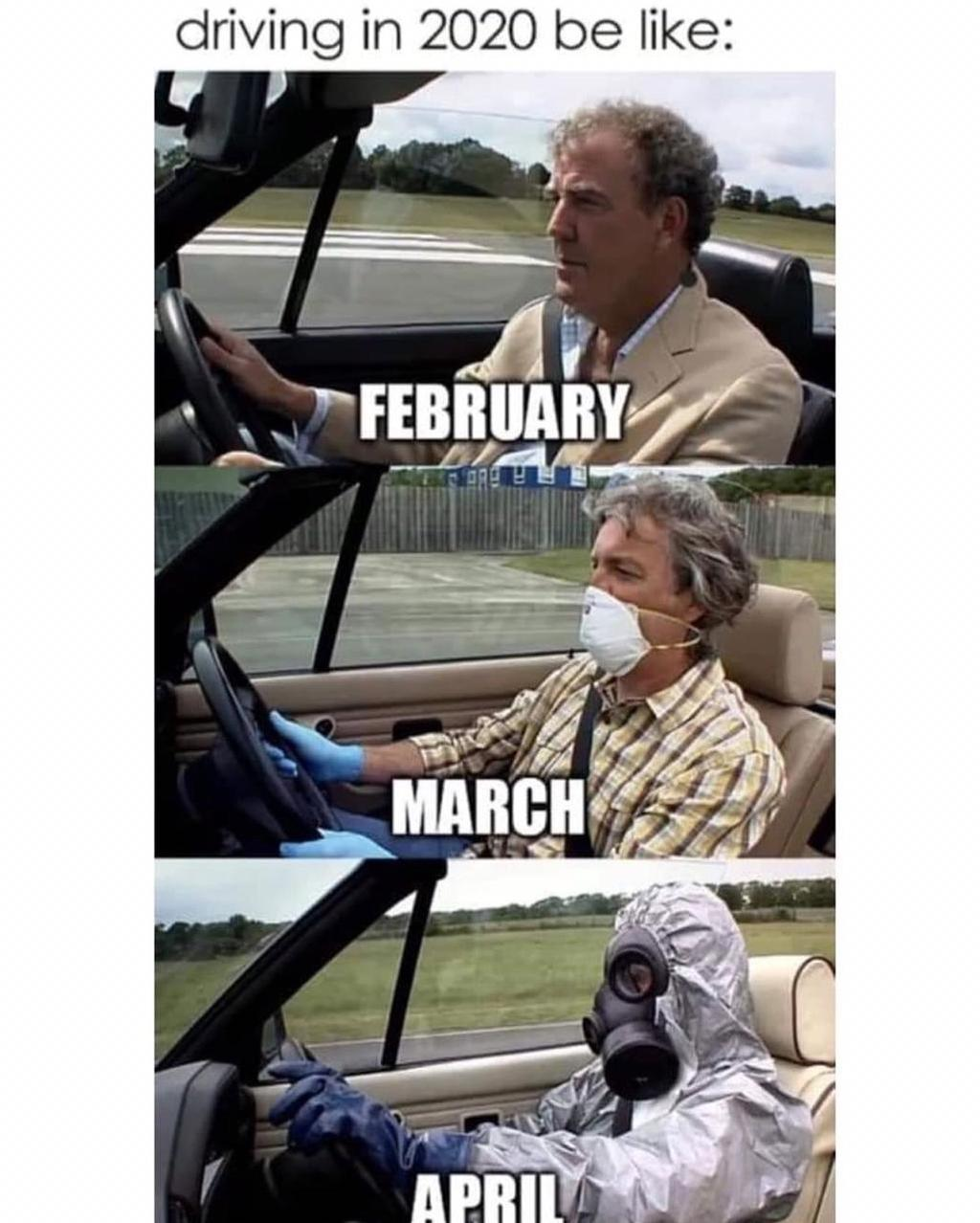 Driving In 2020 Be Like Top Gear February Jeremy Clarkson March James May April Richard Hammond