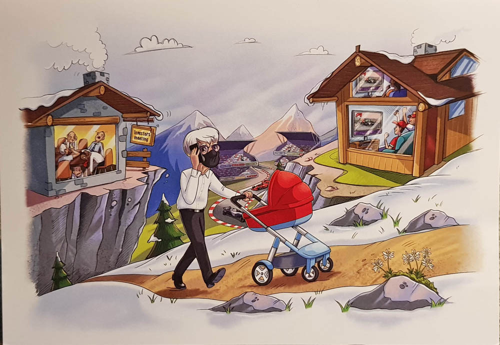 Bernie Ecclestone's 2020 Christmas Card