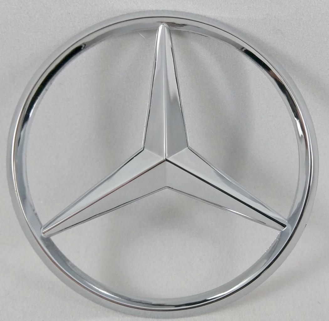 Mercedes Benz Chrome Silver Trunk Star Rear Badge Emblem 3 Inch 80mm