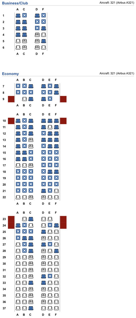 Seating guide: Airbus A321 short haul - Page 16 - FlyerTalk Forums