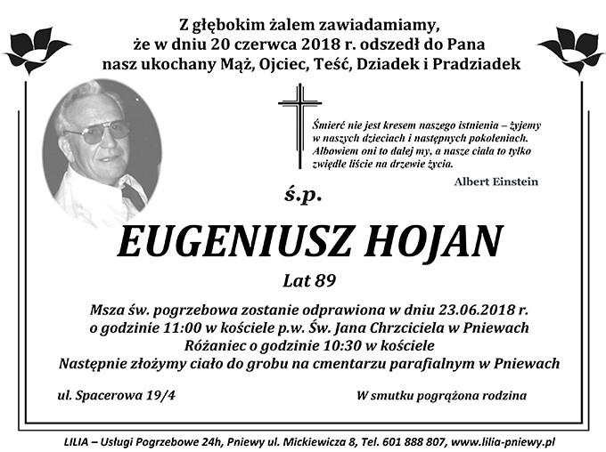 Żyli wśród nas – Eugeniusz Hojan