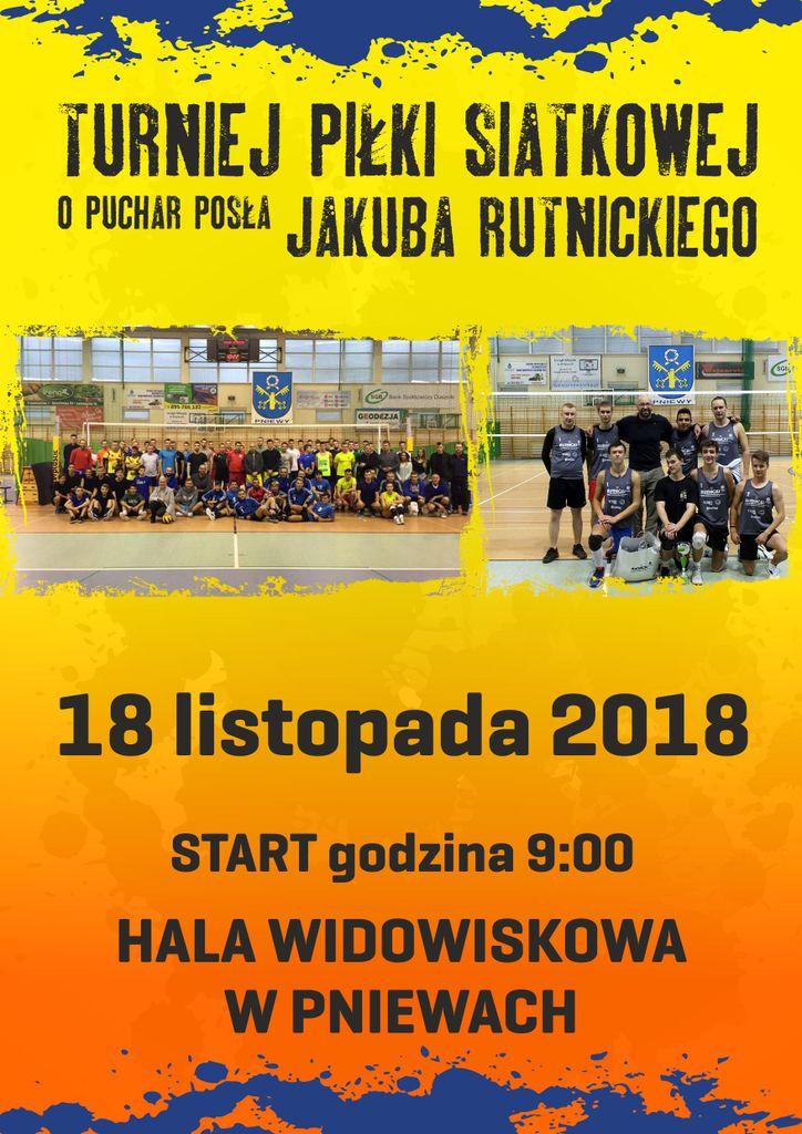 Turniej Piłki Siatkowej oPuchar Posła Jakuba Rutnickiego