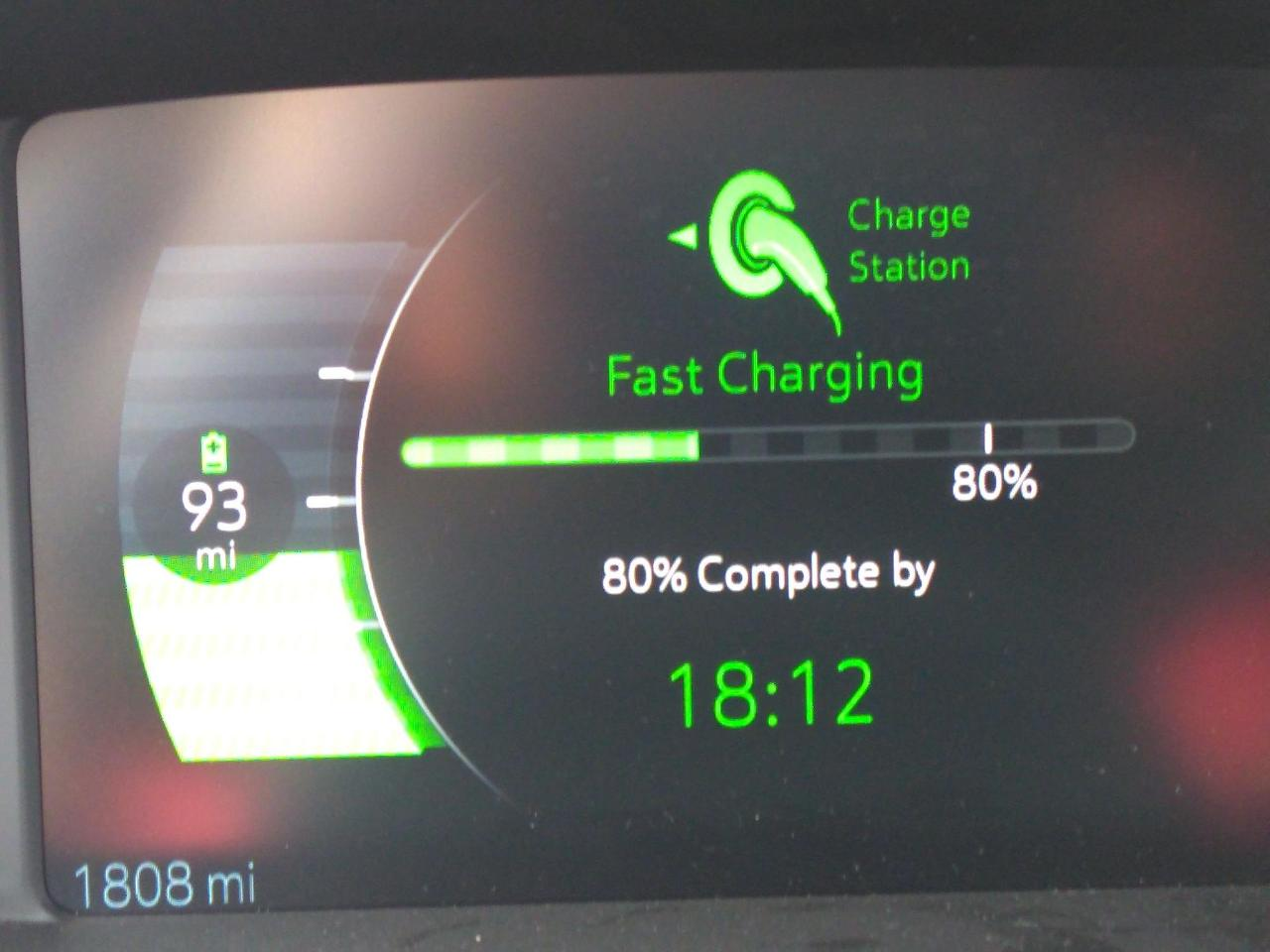 Fast Charging Station Screen