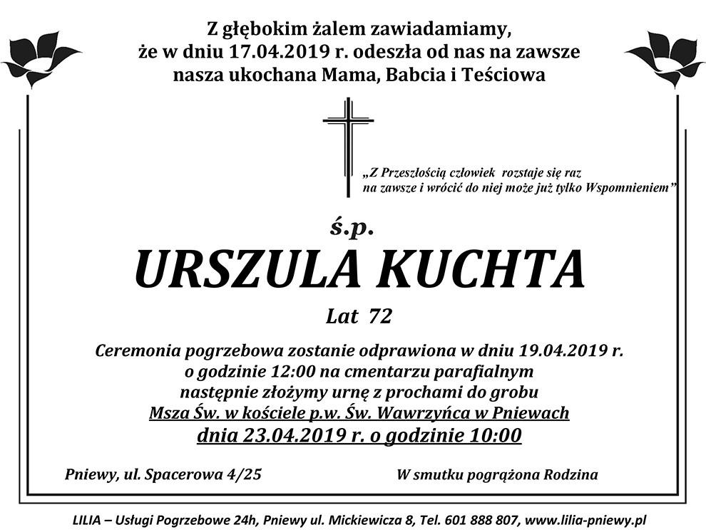Żyli wśród nas – Urszula Kuchta