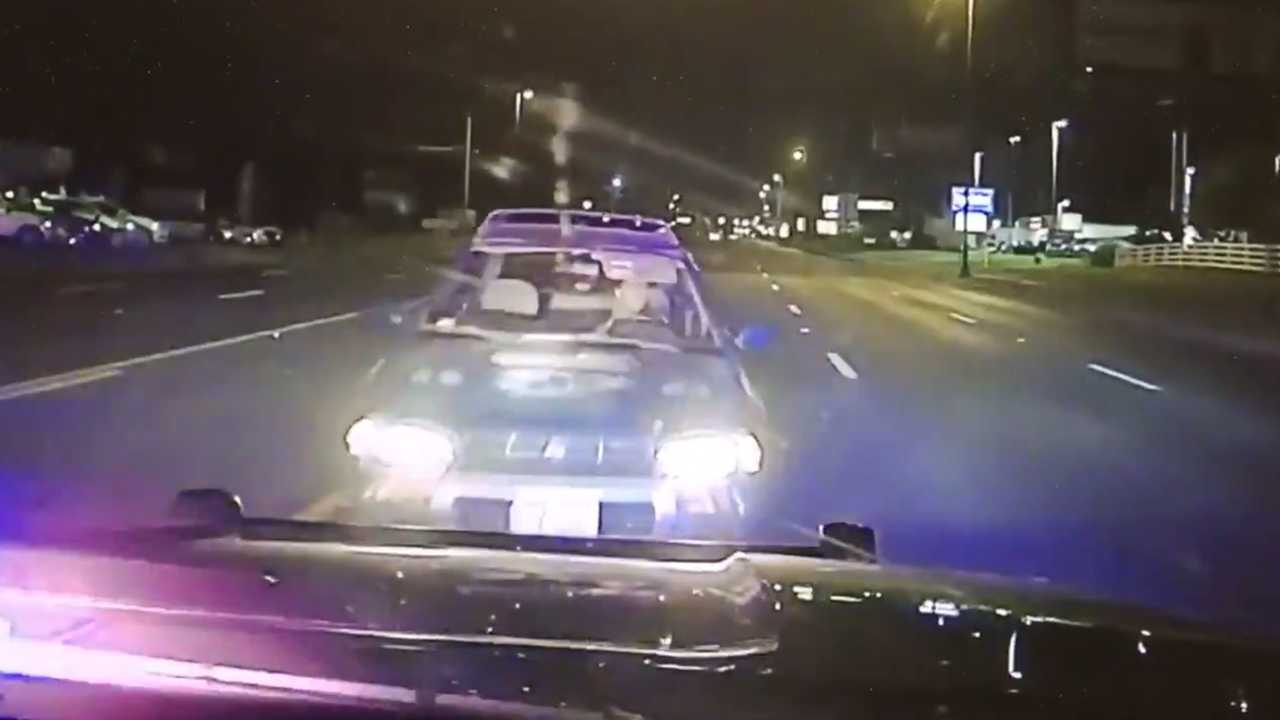 Alleged Drunk Driver Drives On Wrong Side Of Road And Runs Into Cop Car