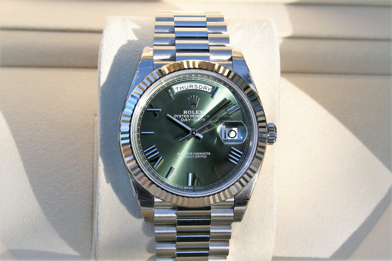 Fs Rolex 228239 Day Date 40mm Olive Green Roman Dial Rolex Forums