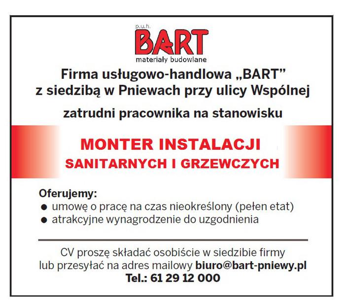 Praca dla montera instalacji sanitarnych igrzewczych
