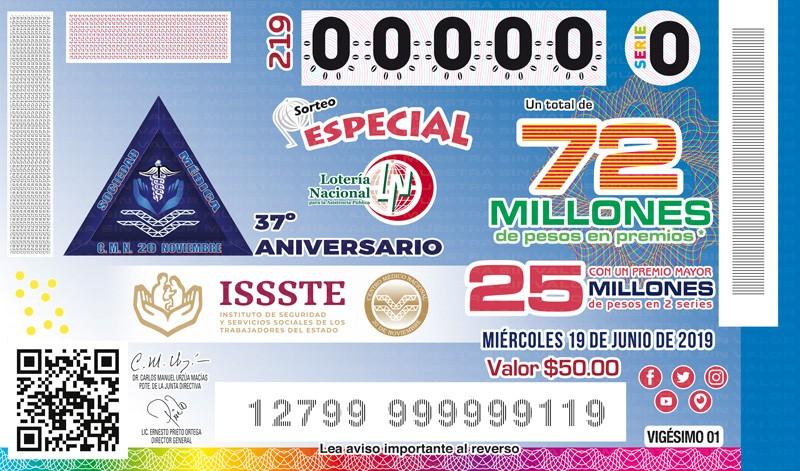 Loteria Nacional Sorteo Especial No. 219 en Vivo – Miércoles 19 de Junio del 2019