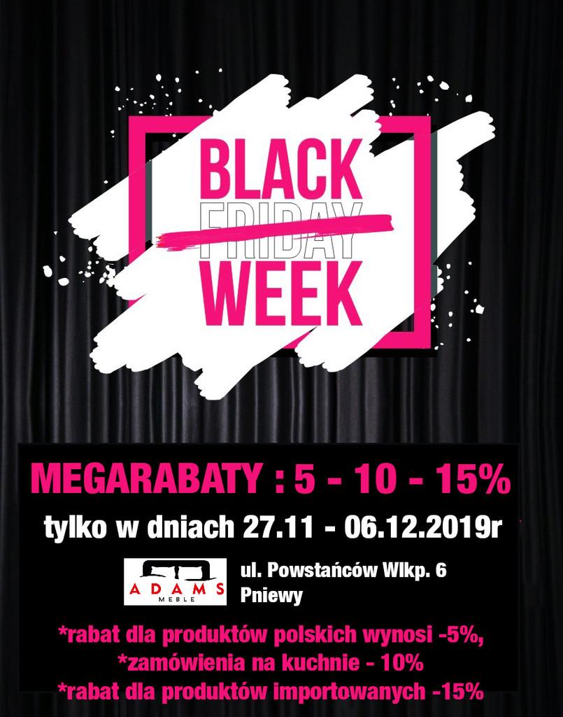 Black Week  także wSalonie Adams Meble