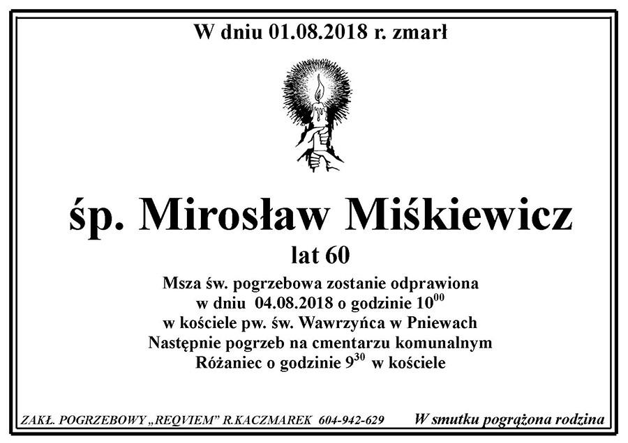 Żyli wśród nas – Mirosław Miśkiewicz