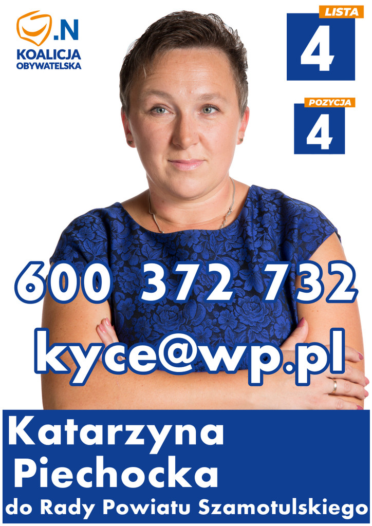 Katarzyna Piechocka – kandydatka doRady Powiatu