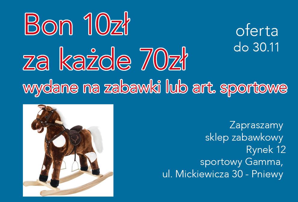 Promocje nazabawki iartykuły sportowe