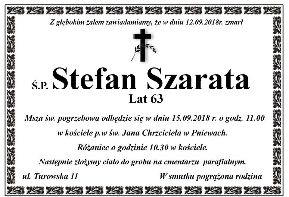 Żyli wśród nas – Stefan Szarata