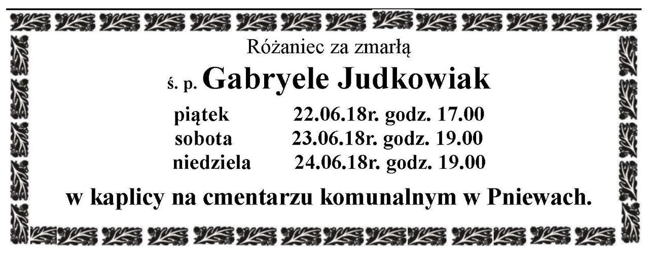 Żyli wśród nas – Gabryela Judkowiak