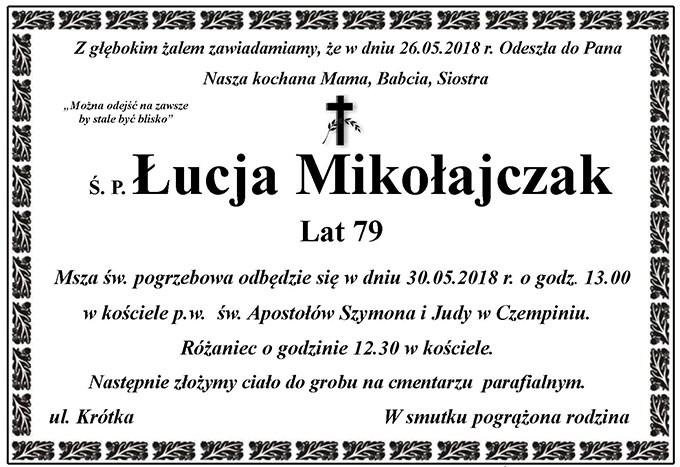 Żyli wśród nas – Łucja Mikołajczak