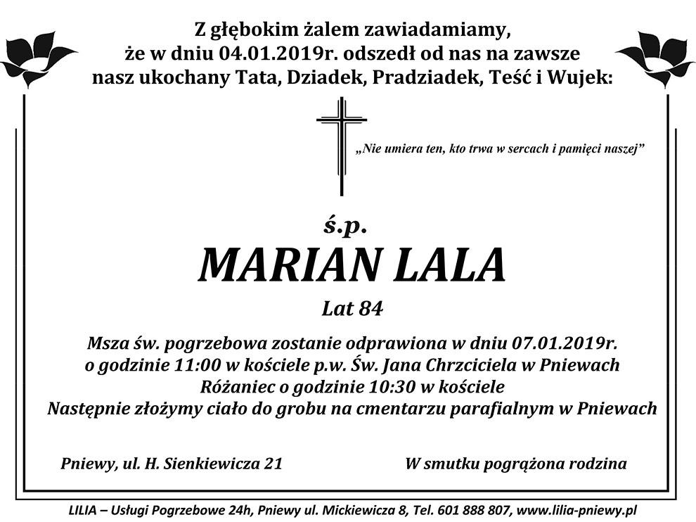 Żyli wśród nas – Marian Lala