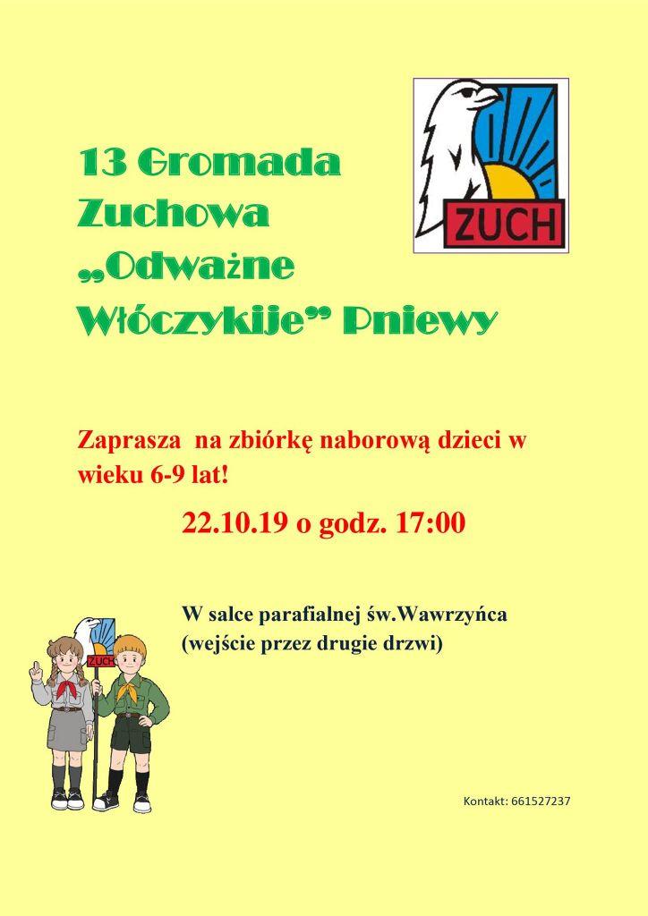 Zaproszenie doGromady Zuchowej