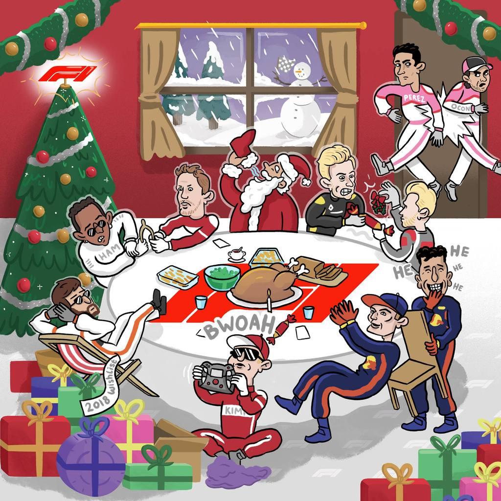 F1 2017 Christmas Card