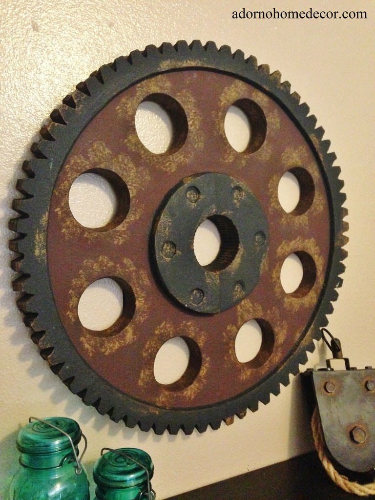 Metal Gear Wall Art Industrial Antique Vintage Chic Modern Wall Decor Widget
