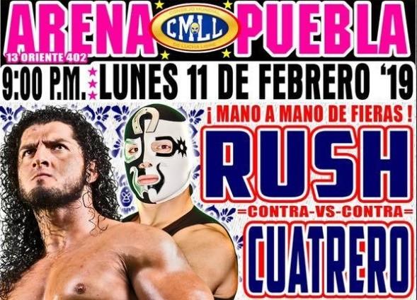 Lucha Libre CMLL desde la Arena Puebla en Vivo – Lunes 11 de Febrero del 2019