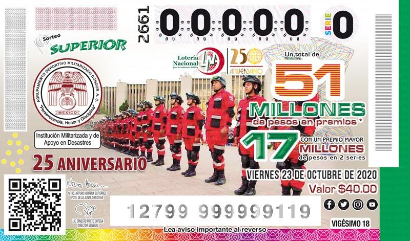 Loteria Nacional Sorteo Superior No. 2661 en Vivo – Viernes 23 de Octubre del 2020