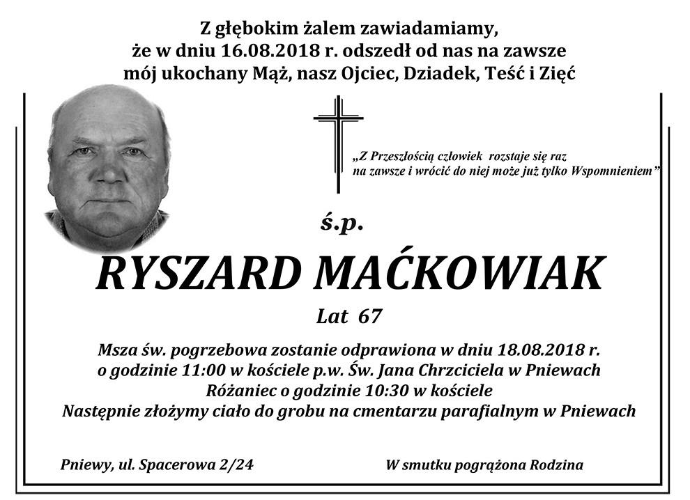 Żyli wśród nas – Ryszard Maćkowiak