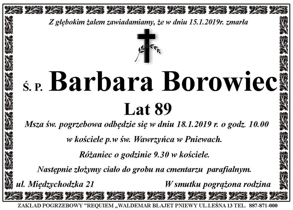 Żyli wśród nas – Barbara Borowiec
