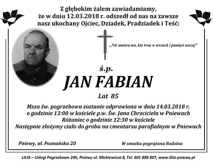 Żyli wśród nas – Jan Fabian