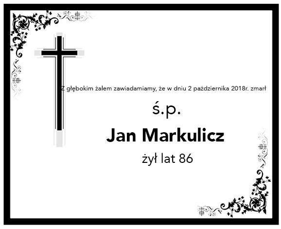 Żyli wśród nas – Jan Markulicz