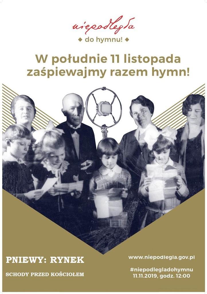 Wpołudnie 11 listopada zaśpiewajmy razem hymn