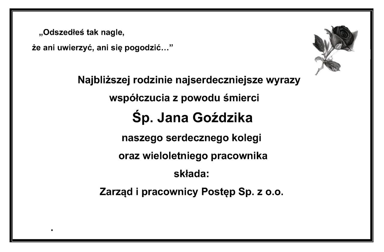 Żyli wśród nas – Jan Goździk