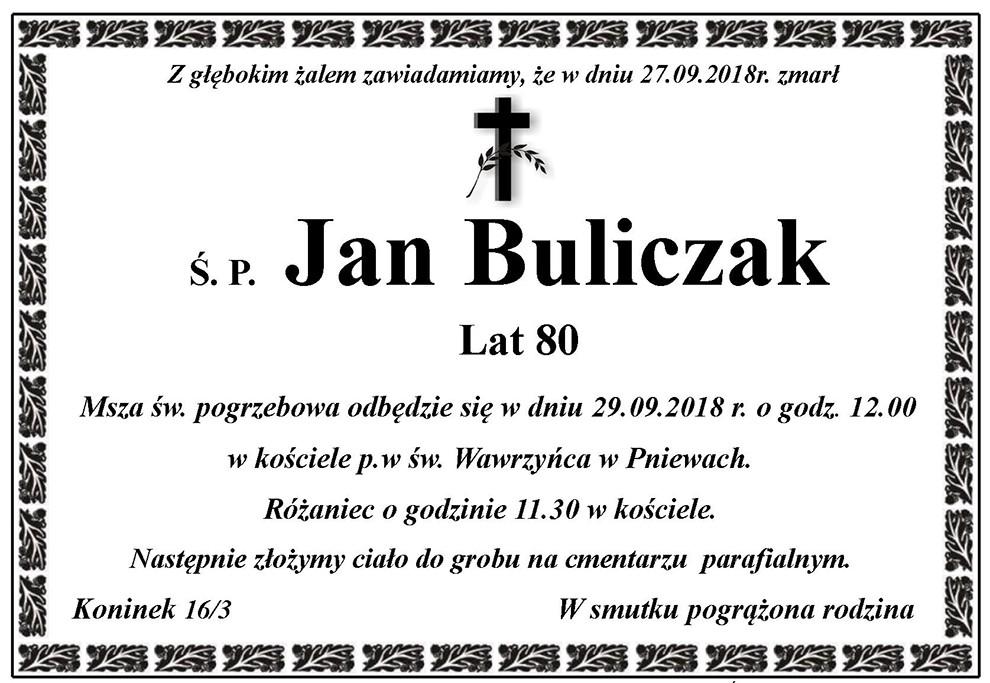 Żyli wśród nas – Jan Buliczak