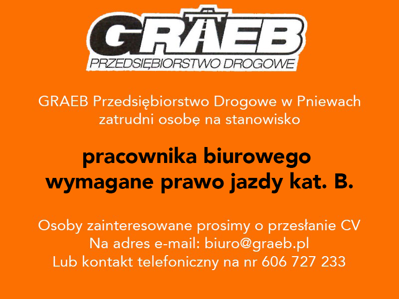 Praca wfirmie GRAEB