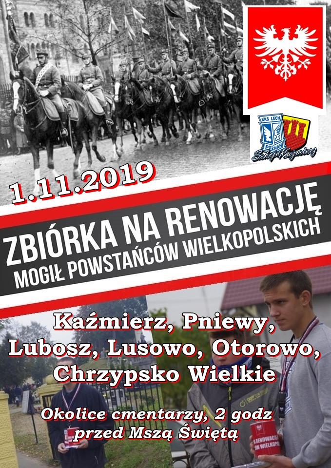 Zbiórka narenowację mogił Powstańców Wielkopolskich 2019