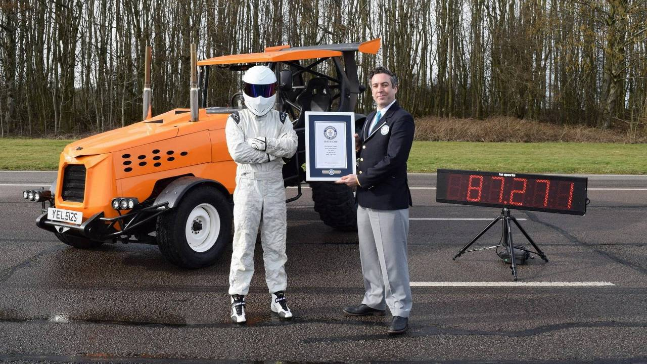 Top Gear Guinness Book Tractor Speed Record